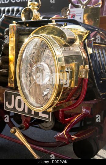 Carbide Car Headlights : Brass ^headlamp stock photos