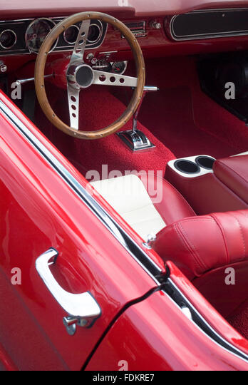 restored classic car ford mustang stock photos restored classic car ford mustang stock images. Black Bedroom Furniture Sets. Home Design Ideas