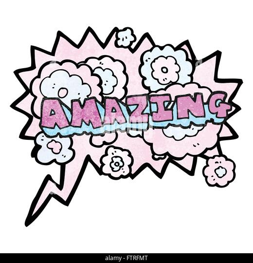 The Word Amazing: Freehand Drawn Cartoon Amazing Word Stock Photos