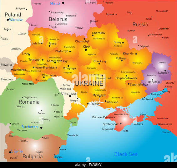 Donetsk Map Vector Stock Photos Donetsk Map Vector Stock Images