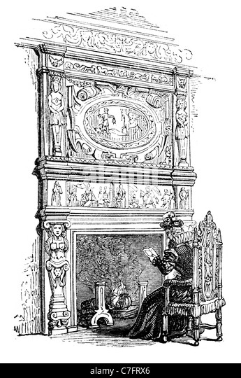 Fireplace Mantelpiece Charlton House Kent Jacobean Red Brick Stone Dressing Great Hall Chapel State Dining Room