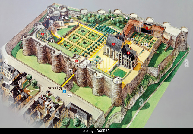 Plan Of Castle Stock Photos Amp Plan Of Castle Stock Images