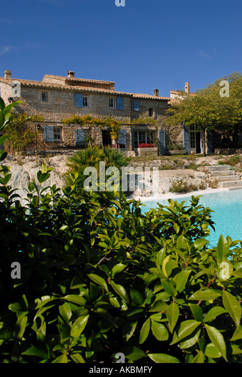 le mas de la brune. Hotel Le Mas De La Rose Orgon Provence France - Stock Image Brune