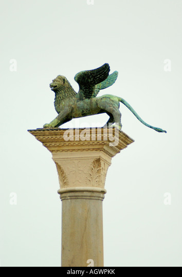 The Lion Is Symbol Of St Mark Stock Photos The Lion Is Symbol Of
