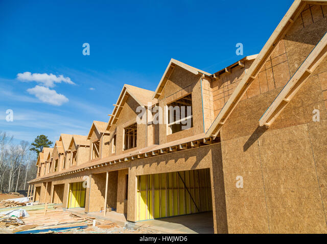Sheathing stock photos sheathing stock images alamy for Townhouse construction cost