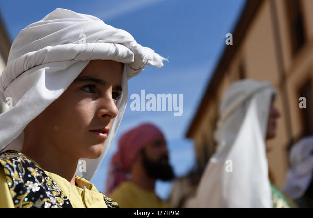 El Burgo De Osma Spain  City pictures : El Burgo De Osma, Spain. 24th Sep, 2016. Iruecha's villagers pictured ...