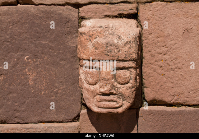 Tiwanaku civilization stock photos