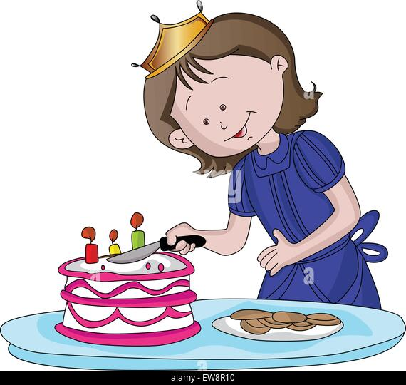 girl cutting birthday cake stock photos amp girl cutting