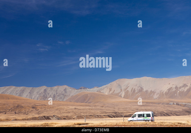 Campervan New Zealand Stock Photos Campervan New Zealand: lake tekapo motor camp