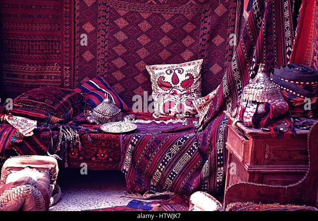 Persian Carpet Shop In Bazaar Stock Photos Amp Persian