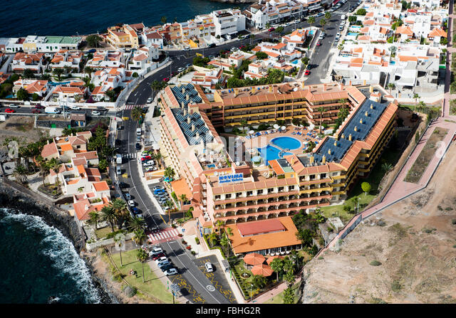 Restaurant hotels apartments resort stock photos for Jardin la caleta