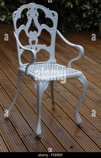 wrought iron chair stock photos wrought iron chair stock