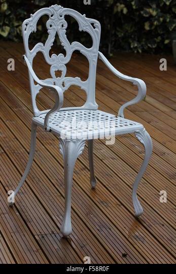 wrought iron chair stock photos wrought iron chair stock