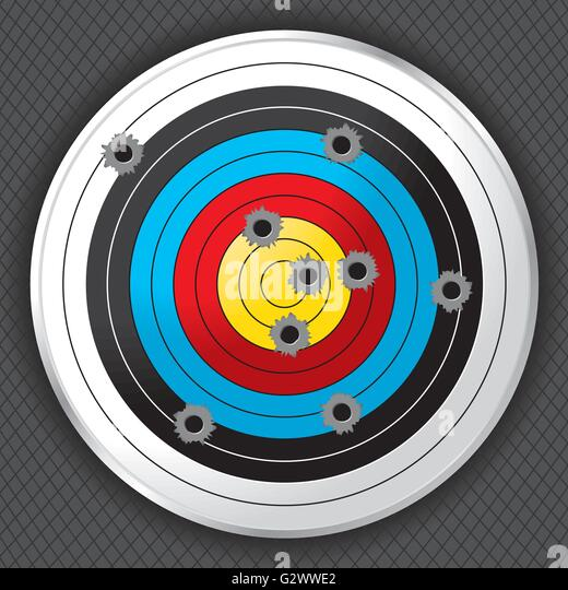 Bullet holes stock vector images alamy for Indoor shooting range design uk