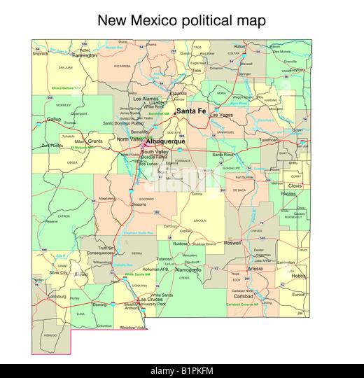 Mexico Map Political Map Stock Photos Mexico Map Political Map - Political map of mexico