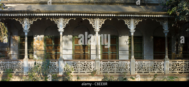Old colonial architecture period house at Sarnath near Varanasi Benares Northern India - Stock & Fretwork Doors Stock Photos \u0026 Fretwork Doors Stock Images - Alamy