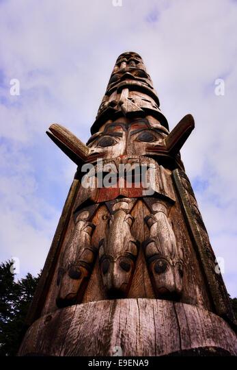 Bicentennial Pole Sitka National Historical Park Alaska USA