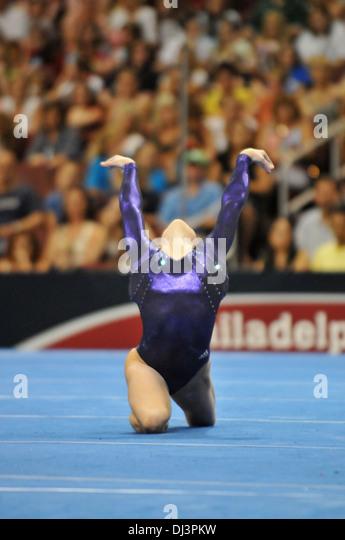 floor gymnastics shawn johnson. Shawn Johnson Competes During The Floor U.S. Olympic Gymnastics Team Trials Hosted In Philadelphia