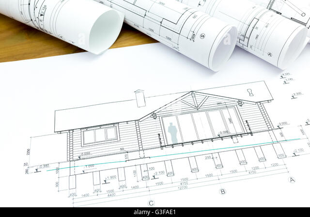 Architectural Blueprints And Construction Plans Rolls Of New Home G3fae1 Architectural Blueprints Construction Plans Rolls Stock