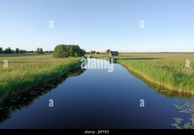 Suitsu river in Matsalu National Park. Estonia 14th July 2017 - Stock Image