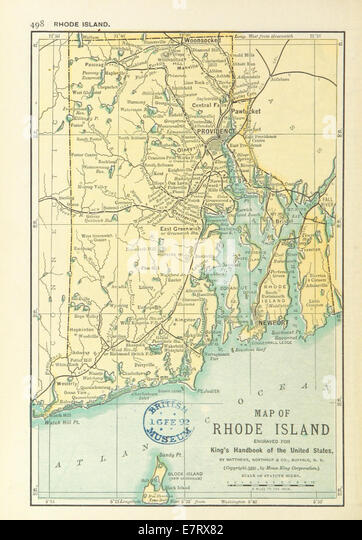 Map Of Rhode Island Stock Photos Map Of Rhode Island Stock - Rhode island on us map
