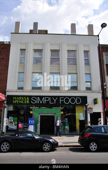 Marks Spencer Simply Food Store High Street Ruislip London Borough of  Hillingdon  Ruislip Suburbs London. Bathstore Ruislip