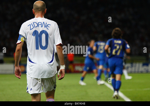 Zinedine Zidane Of France In Action During The  Fifa World Cup Final Against Italy July