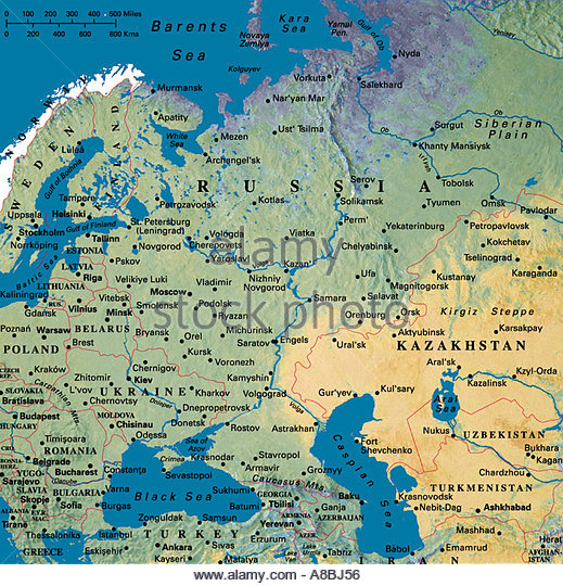 Russia Map Stock Photos Russia Map Stock Images Alamy
