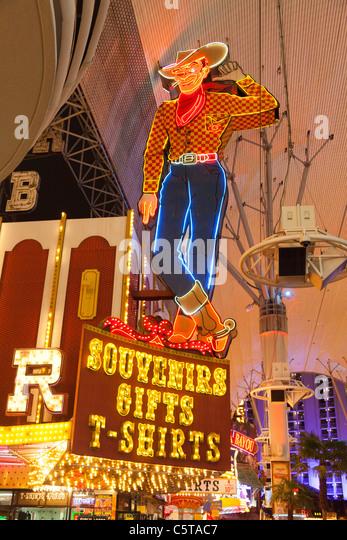 vegas casino with cowboy