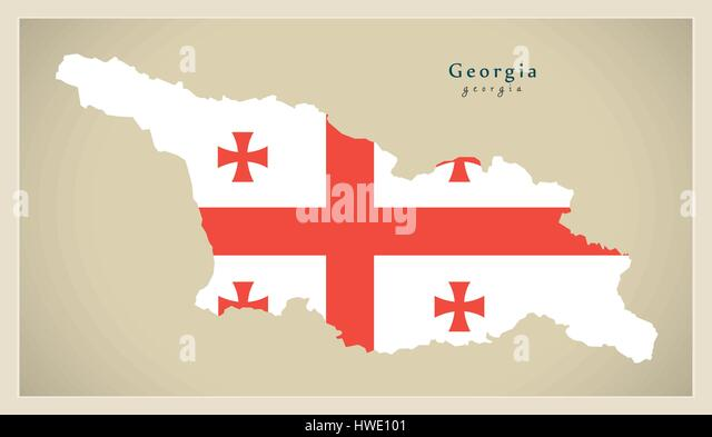 Georgia Map Tbilisi Stock Photos  Georgia Map Tbilisi Stock