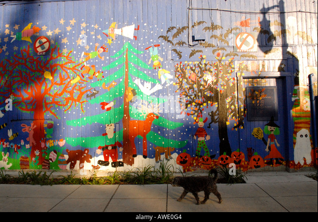 Wall stock photos wall stock images alamy for Art mural montreal