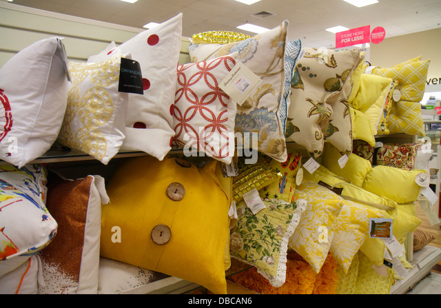 Miami Florida Aventura Marshalls Home Goods discount department store  retail display sale pillows   Stock Image. Marshalls Home Goods Stock Photos   Marshalls Home Goods Stock