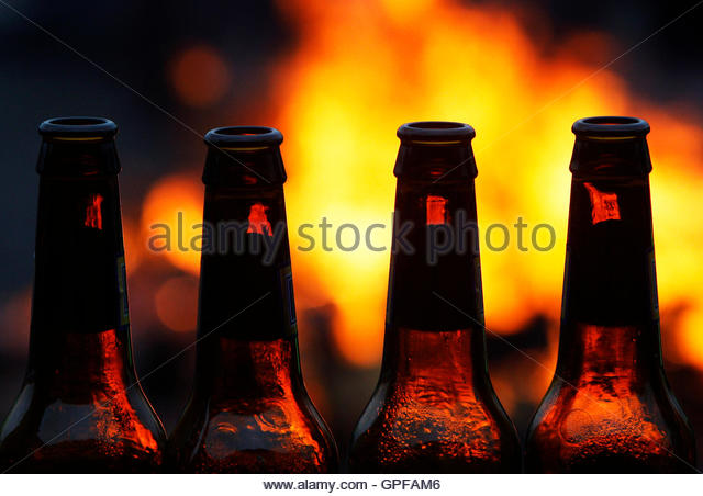 Empty bottles beer cut out stock photos empty bottles for How to cut a bottle with fire