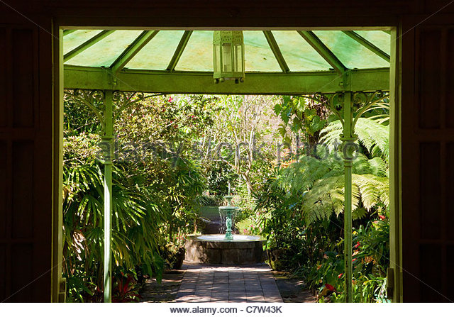 Reunion Island : View From The Front Door Of Villa Folio At Hell Bourg
