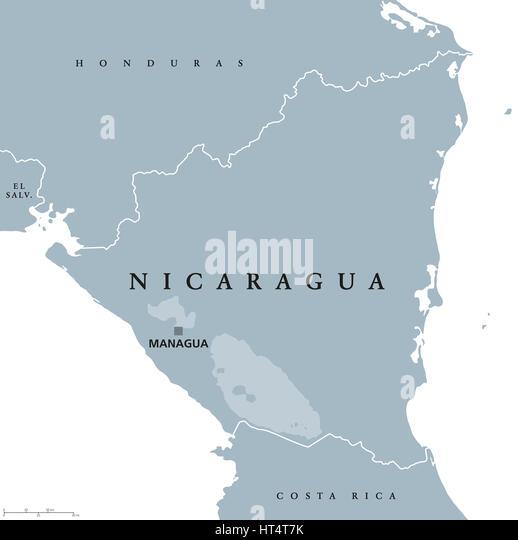 Nicaragua Honduras Border Stock Photos Nicaragua Honduras Border - Nicaragua map honduras
