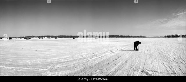 Ice Fishing Black And White Stock Photos Images Alamy