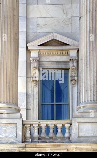 United States Capitol Window On House Side Washington DC, Capitol Window,    Stock Image