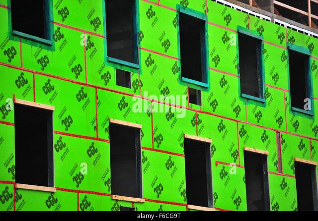 Sheathing stock photos sheathing stock images alamy for Green board exterior sheathing