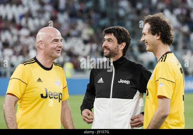 Turin, Italy. 30th May, 2017.  Football Charity Match, La Partita del Cuore 2017.Juventus Stadiun, Turin.Singers - Stock Image