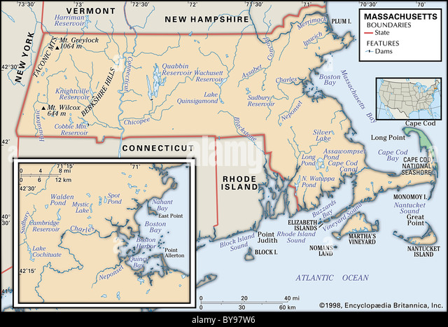Physical Map Rhode Island Stock Photos Physical Map Rhode Island - Massachusetts physical map