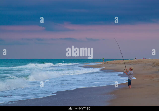 Outer banks north carolina stock photos outer banks for Surf fishing outer banks