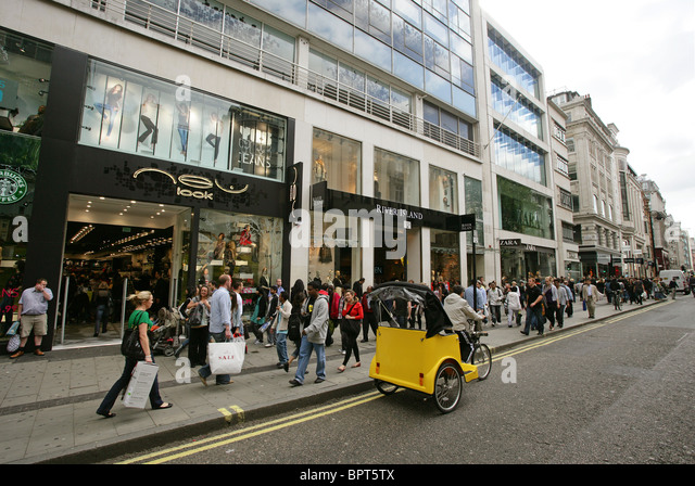 The hustle and bustle of a shopping day