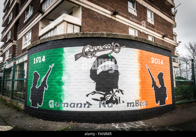 Republican mural in belfast stock photos republican for Mural belfast