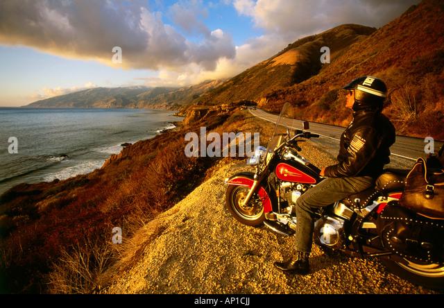 harley davidson ocean stock photos & harley davidson ocean stock