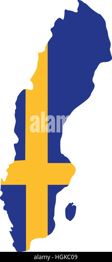 Sweden Country Map Stock Photos Sweden Country Map Stock Images - Sweden map flag