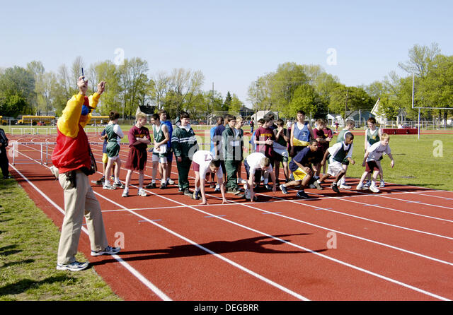 order of events for a middle school track meet