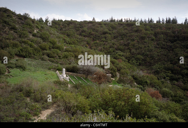 4th Battalion Cemetery, Gallipoli Battlefield Turkey From 1915 Stock Photo, P...