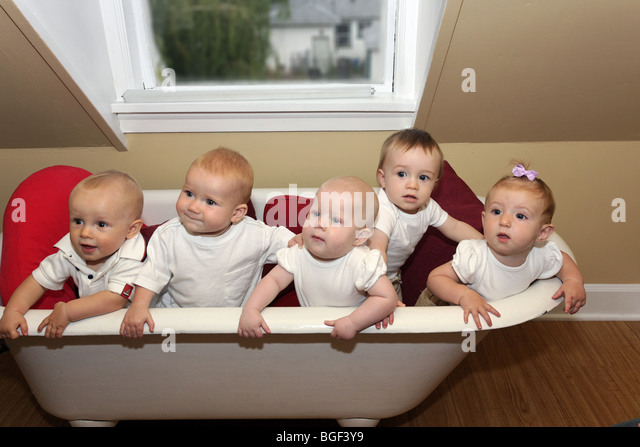 five babies stock photos five babies stock images alamy. Black Bedroom Furniture Sets. Home Design Ideas