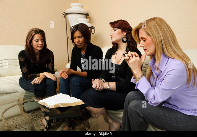 Group Of People Praying Home Christian Stock Photos ...