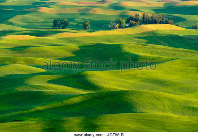 Aerial palouse stock photos aerial palouse stock images for What is rich soil called